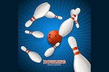 Bowling Concept. Vector