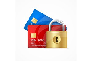 Money Secure Concept. Vector