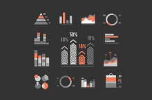 Graphs Icons Set. Vector