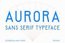 AURORA SANS SERIF by  in Fonts