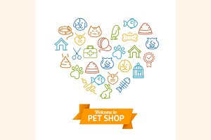 Pet Shop Concept. Vector