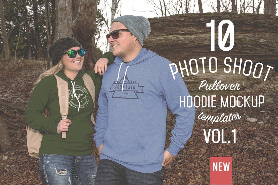 f0e0e0bb 10 Pullover Hoodie Mockups ~ Product Mockups ~ Creative Market