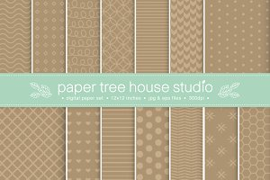 Craft Paper Patterns (Vector)