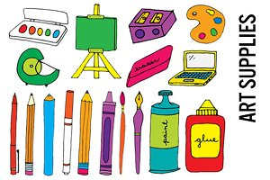 Art Supplies Clip Art - Hi Res PNGs