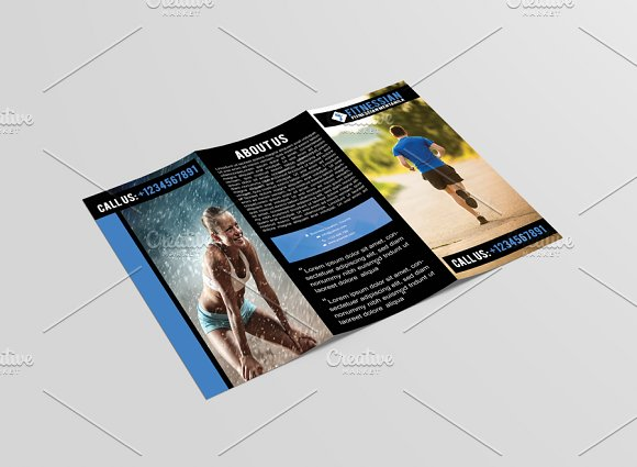 Fitnessian Tri Fold Gym Brochure Brochure Templates on Creative – Gym Brochure