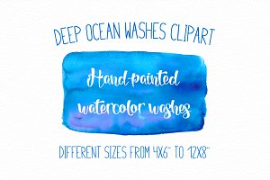 Deep ocean washes clipart w-02