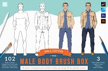 Procreate Male Body Brush Box by  in Add-Ons