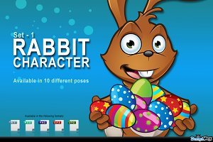 Brown Easter Rabbit - Set 1