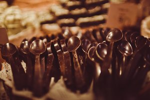 Dark Chocolate Spoons