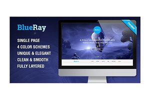 BlueRay - Single Page PSD Theme
