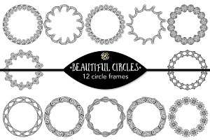 Beautiful circles - 12 circle frames