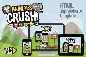App Game HTML website template