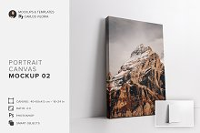 Portrait Ratio 2x3 Canvas Mockup 02 by  in Mockups