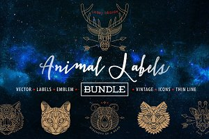 Animal Labels Bundle
