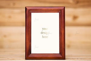 Rustic frame wood background