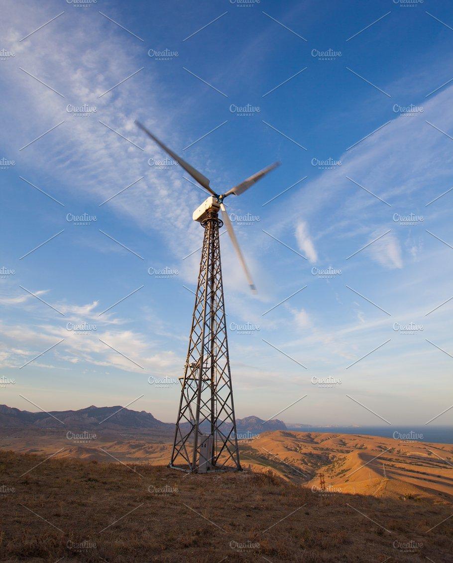 Wind Turbine Generating Electricity Industrial Photos Creative