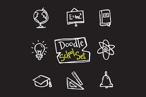8 Doodle Icons. Education Set