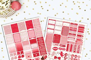 Valentine Mini Kit Printable Sticker