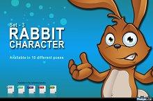 Brown Easter Rabbit - Set 3