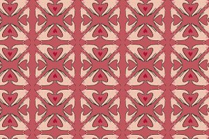 Seamless pattern of hand in hert sha