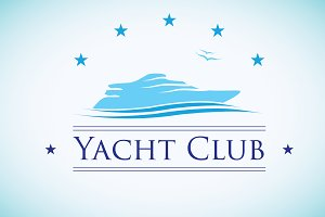 Yacht Club Logo Template