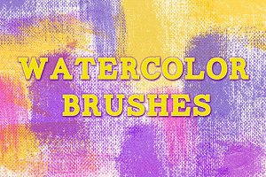 Watercolor-oil effect PS Brushes
