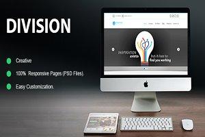 Division Portfolio PSD Template