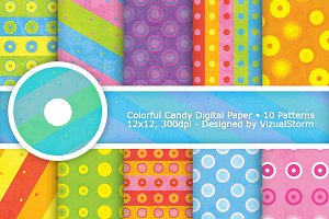 Colorful Candy Digital Paper Pattern