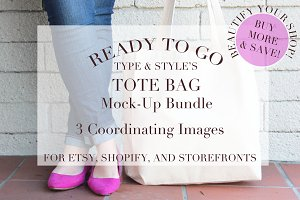 Tote Bag Styled Stock Photos