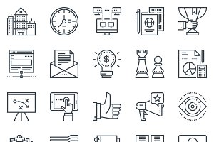 Business, office icon set