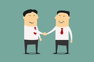 Handshake of two asian businessmen