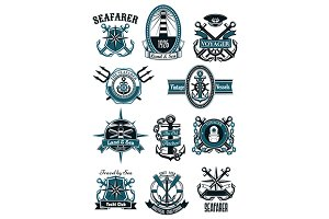 Nautical and marine badges