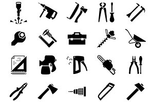 Hand and power tools icons