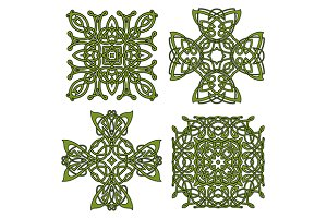 Celtic and irish ornaments