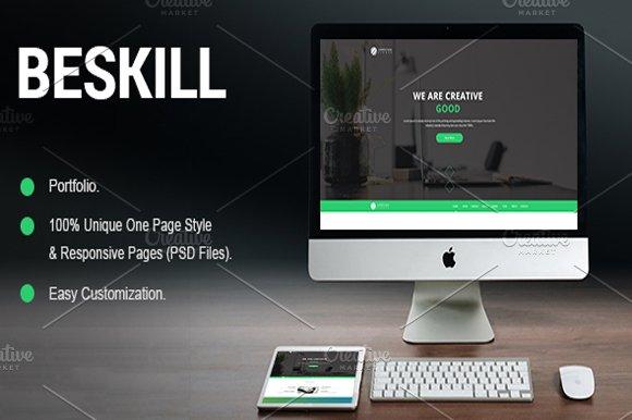 Beskill Portfolio Psd Template Website Templates Creative Market