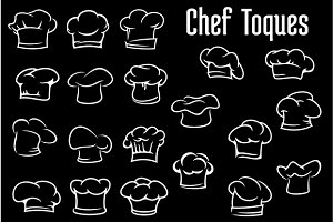 Chef and cook hats, caps or toques