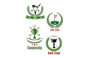 Golf club and championship emblems