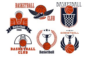 Basketball club or team emblems