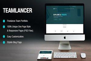 Teamlancer Portfolio PSD Template