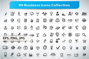 Collection of 90 Business Icons