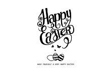 Happy Easter! Watercolor green