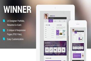 Winner Portfolio PSD Template