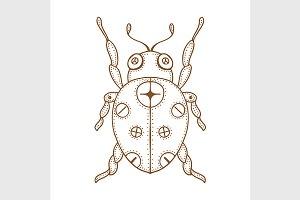 Vector bug doodle