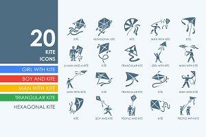 20 Kite icons
