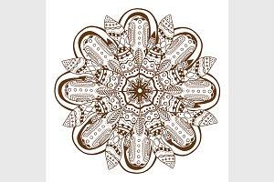 Circular floral ornament Mandala