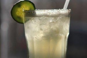 A Cucumber Margarita in the Sunlight