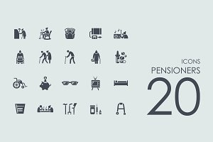 20 Pensioners icons