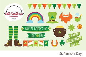 St. Patrick clipart pack CL027