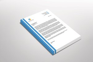 Dotlinear Letterhead Template