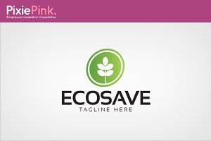 Eco Save Logo Template